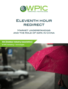 Eleventh hour redirect: Market understanding and the role of data in China